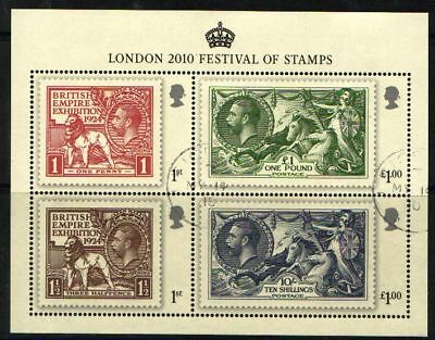 Great Britain 2010 George V Accession Minisheet Fine Used