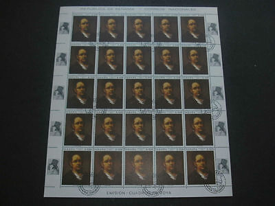 Panama 1967 F. Goya Paintings 8c Full Complete Sheet #S112