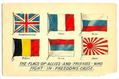 Great Britain WWI The Flags Allies & Friends who Fight in Freedoms Cause PC 1917