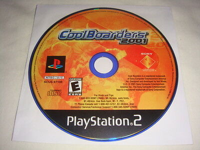 Cool Boarders 2001 - PS2 Playstation 2 game Disc Only Coolboarders Snowboarding