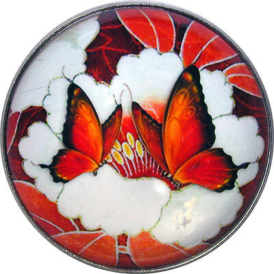 "Beautiful Crystal Dome Button Butterfly  Duo Lg Size 1 & 3/8"" B 36"