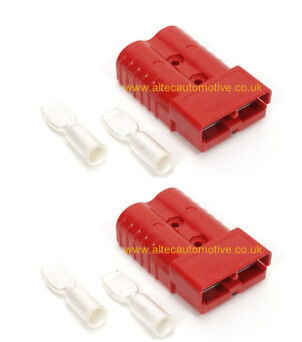 RED  175 AMP ANDERSON SB-175 POWER CONNECTOR (pair)