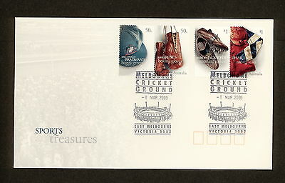2005 FDC2492 SPORTING TREASURES FDC WITH MCG MELBOURNE CRICKET GROUND Postmark