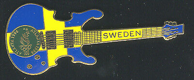 1996 Atlanta Summer Olympic Guitar Pin For Sweden Limited To 5,000