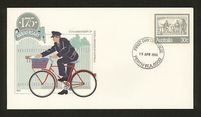 PSE FDC PF080 1984 30c Postal Services circ date stamp