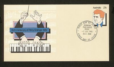 PSE FDC PF056 1982 27c Percy Grainger circ date stamp