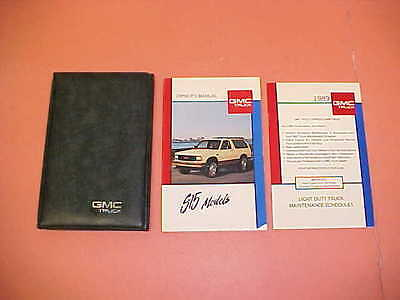 1989 GMC S15 S-15 JIMMY TRUCK PICKUP ORIGINAL OWNERS MANUAL SERVICE GUIDE KIT 89