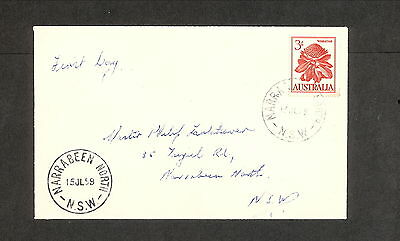 FDC 1959 CVR0880 3/- WARATAH First Day Cover (1 only) ADDRESSED