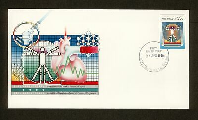 PSE FDC PF105 1986 33c National Heart circ date stamp