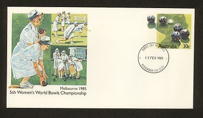 PSE FDC PF087 1985 30c Womens Bowls circular date stamp
