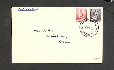 FDC 1959 CVR0803 1d PURPLE  QEII, 4d RED QEII First Day Cover (1 only)ADDRESSED