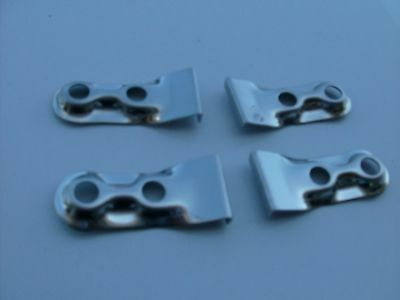 FULTON SUNVISOR CLIPS CENTER PINCH CLIPS 4 PC SET  1930'S 1940'S BUICK , PONTIAC