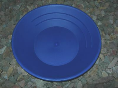 "Gold 5 Pans Panning 10"" High Impact Plastic BLUE Prospecting Mining WHOLESALE"