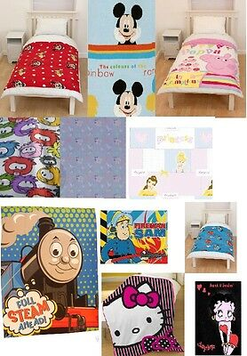 Brand New Childrens Novelty Fleece Blankets / Throws Boys Or Girls Great Gifts