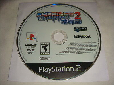 American Chopper 2 II : Full Throttle - PS2 Sony Playstation 2 game Disc Only T