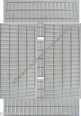 "5x CHROME GRID MESH 35"" x 17"" SHOP DISPLAY PANEL **NEW** x5 Wall Panels"