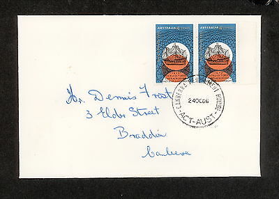 FDC 1966 CVR0788 4c HARTOG PAIR First Day Cover (1 only) UNADDRESSED