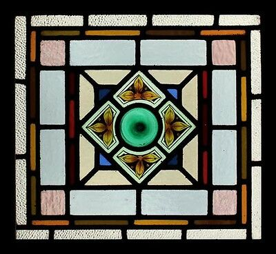 Exceptional Rare Painted English Victorian Stained Glass Window