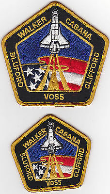 2 - LARGE/SMALL  UNUSED VINTAGE EMBROIDED SPACE SHUTTLE  PATCHES    lot #11