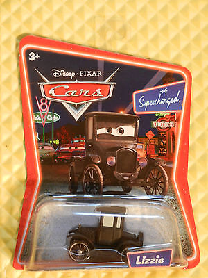 DISNEY CARS MATTEL 23 BACK 1ST RELEASE SUPERCHARGED LIZZIE L5256 FROM CASE