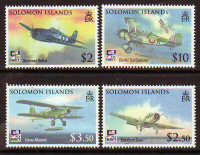SOLOMON ISLANDS 2009 NAVAL AVIATION SET aircraft  UNMOUNTED MINT