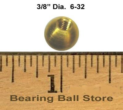 "25 3/8"" threaded 6-32 brass balls drilled tapped knobs"