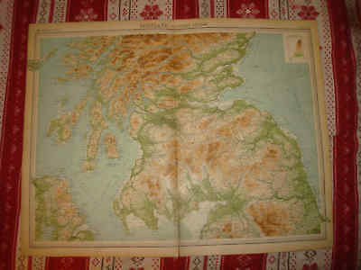 Huge Gorgeous Southern South Scotland 1922 Times Atlas Map Superb Nr