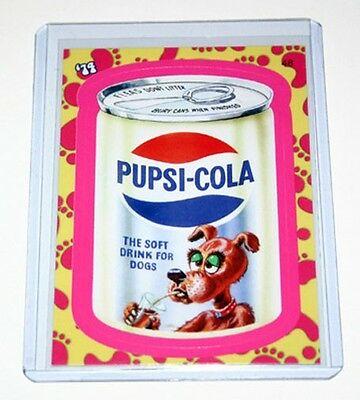Topps Wacky Packages Flashback 1 Pupsi Cola Pink Parallel Card #48