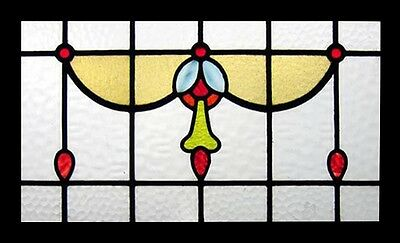 Edwardian Jeweled Swag Antique English Stained Glass Window • CAD $1,516.87