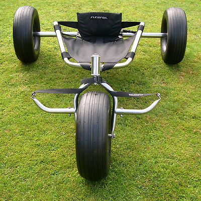 """Kite Buggy - Stainless Steel Narrow Axle with 6"""" wide Tires"""