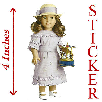 "4/"" HIGH~MOVIE DRESS STICKER AMERICAN GIRL REBECCA PARTY FAVOR~STOCKING STUFFER"