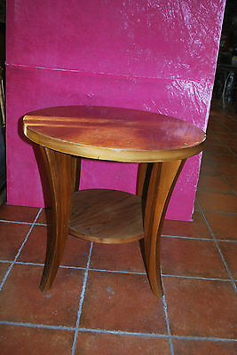 Table Gueridon Art Deco  En Noyer