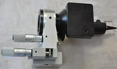 Line tool lens holder fiberoptic alignment tool/fixture