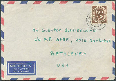 GERMANY TO USA Old Air Mail Cover VF