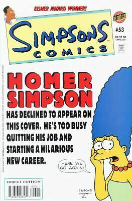 Bongo comics Simpsons #53 NM FREE UK POST