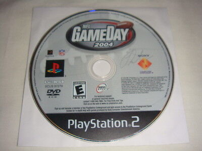 NFL GameDay 2004 - PS2 Playstation 2 game Disc Only Football Game Day 04 989 E