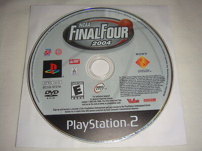 NCAA Final Four 2004 - PS2 PlayStation 2 game Disc Only 989 Sports Basketball E