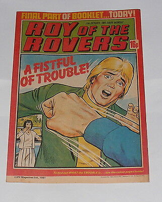 Roy Of The Rovers Comic 17Th October 1981 Jim Leighton Of Aberdeen
