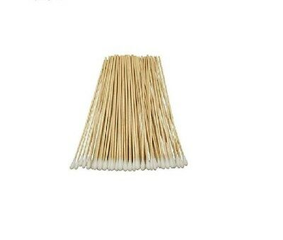 """Cotton Swabs Swab Applicator Q-tip 500 Pieces 6"""" EXTRA LONG Wood Handle STURDY!"""