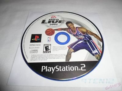NBA Live 2002 - PS2 Sony Playstation 2 game Disc Only EA Sports 02 Basketball E