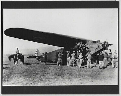 """First Flight To Hawaii 1927 Hand Printed Silver Halide Photograph On 8X10"""" Mat"""