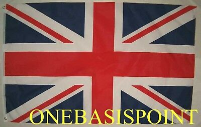3'x5' British Flag Outdoor UK Union Jack United Kingdom King Queen Huge 3x5 New