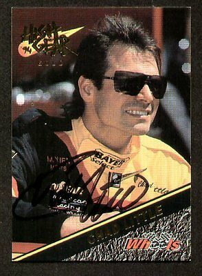 Chad Little signed autograph 1994 Wheels High Gear NASCAR Trading Card