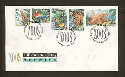 1994 FDC1483 ENGANGERED SPECIES ZOOS First Day Cover PARKVILLE VIC 3052 Postmark
