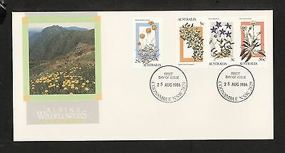 1986 FDC1031 ALPINE WILDFLOWERS FDC COONAMBLE NSW 2829 Postmark