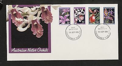 1986 FDC1035 ORCHIDS COONAMBLE NSW 2829 Postmark on First Day cover