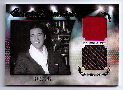 Elvis Presley authentic worn clothing swatch 2 TWO Essential Materials EM-D3 299