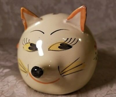 Vintage Italy Hand Painted Earthenware Cat Bank 8139