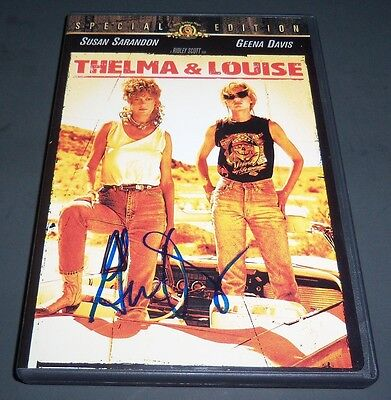 GEENA DAVIS SIGNED THELMA & LOUISE SPECIAL EDITION DVD w/ VIDEO PROOF!
