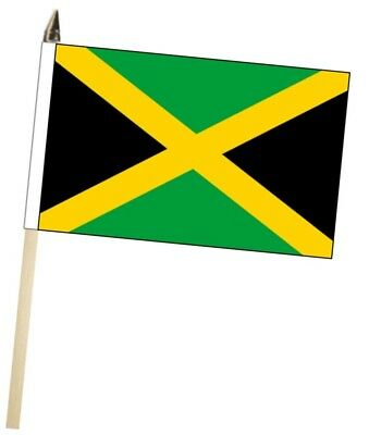 Jamaica Large Hand Waving Courtesy Flag